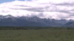 HD2008-6-2-22 rocky Mtns and pasture Stock Video Footage