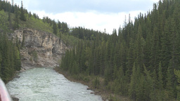 HD2008-6-3-5 Elbow river and cliff Stock Video Footage