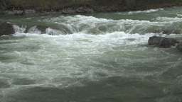 Elbow river and mountain Stock Video Footage