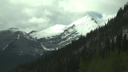 HD2008-6-3-27 snow peak and forest Stock Video Footage