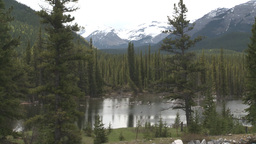 HD2008-6-3-29 pond and mountains Stock Video Footage