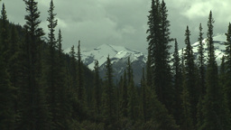 HD2008-6-3-31 snow peak and forest Stock Video Footage