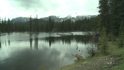 HD2008-6-3-33 pond and mountains Stock Video Footage