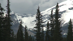 HD2008-6-3-37 snow peak and forest Stock Video Footage
