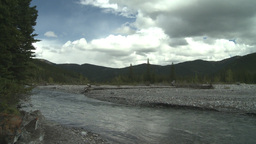 Elbow river and mountain Footage