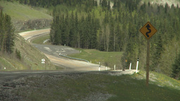 HD2008-6-3-59 steep mtn road heat ripples Stock Video Footage