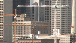 HD2008-6-4-13 calgary skyline scotsman hill ll cranes Footage