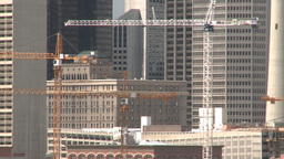 HD2008-6-4-13 calgary skyline scotsman hill ll cranes Stock Video Footage