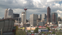 HD2008-6-4-15 calgary skyline scotsman hill Stock Video Footage