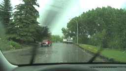 HD2008-6-4-29 hailtorm thru windshield Footage