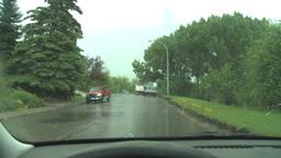 HD2008-6-4-29 hailtorm thru windshield Stock Video Footage