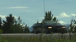HD2008-6-5-54 jogger on highway Stock Video Footage