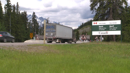 HD2008-6-6-1 Banff gates traffic Stock Video Footage