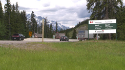 HD2008-6-6-1 Banff gates traffic Stock Video Footage