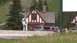 HD2008-6-6-3 Banff gates traffic Stock Video Footage