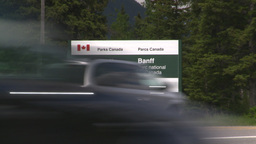 HD2008-6-6-5 Banff gates traffic Stock Video Footage