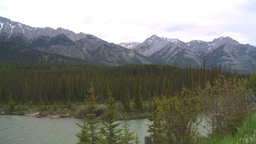 HD2008-6-6-9 Banff mtn and river Stock Video Footage