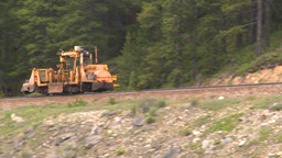 HD2008-6-6-11 rail maintenance tractor Stock Video Footage