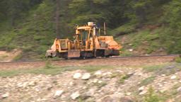 HD2008-6-6-11 rail maintenance tractor Stock Video Footage