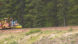 HD2008-6-6-13 rail maintenance tractor Stock Video Footage