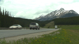 HD2008-6-6-17 TCH semi truck summer traffic mtns Footage