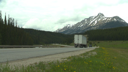 HD2008-6-6-17 TCH semi truck summer traffic mtns Stock Video Footage