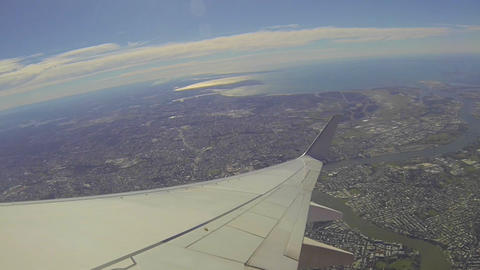 37 seconds window from airplane over Brisbane Footage