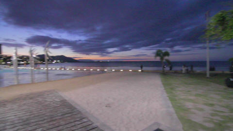2 angles - evening at the cairns promenade Footage