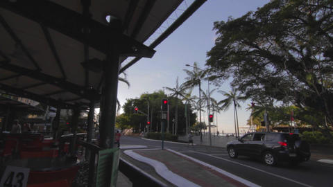 high to low tilt on the Cairns promenade 2 angles Stock Video Footage