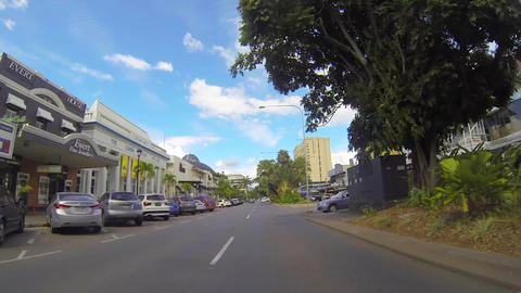 sped up driving tour through the town of cairns Footage
