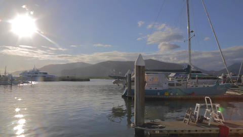 the pier at Cairns esplanade Stock Video Footage