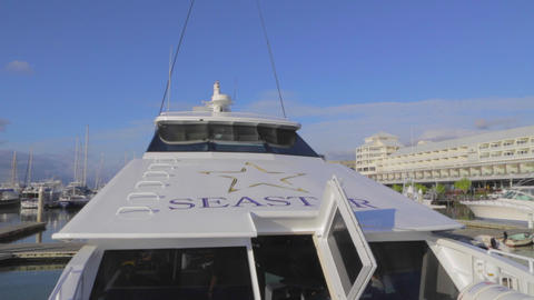 a pan of sea star cruises Footage