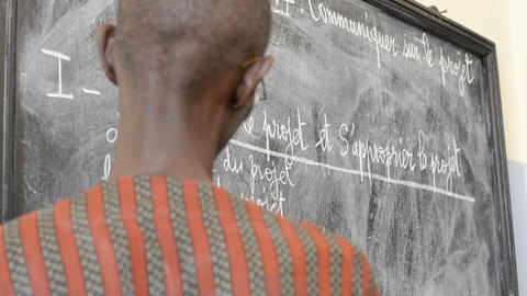 African Teacher stock footage