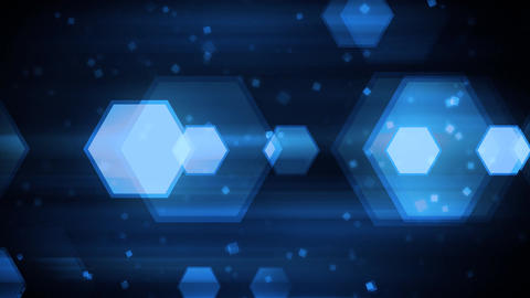 Blue Dynamic Hexagons stock footage