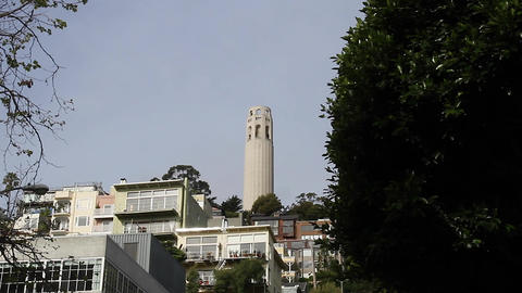 coit tower medium shot Footage