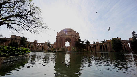 dolly shot - palace of fine arts Footage