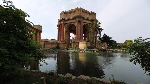side shot of palace of fine arts Footage