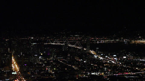 evening view of bay bridge form twin peaks Footage