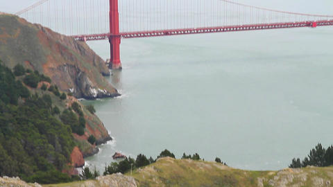low high aerial tilt - golden gate bridge from nor Stock Video Footage