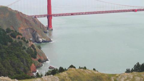 low high aerial tilt - golden gate bridge from nor Footage