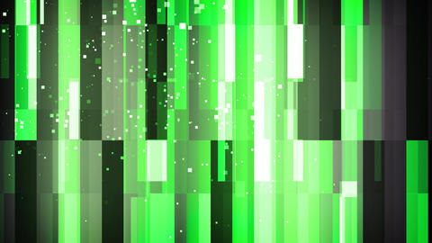 Green Grid Particles Animation