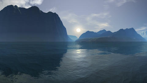 Sunrise over the sea cliffs Animation