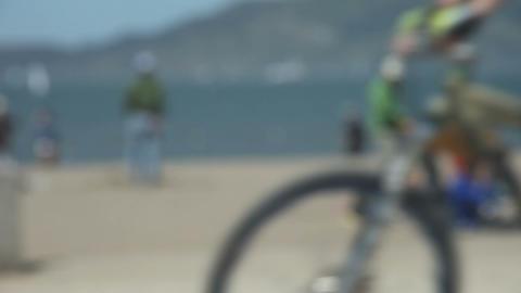 At The Beach Defocused stock footage