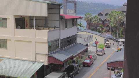 birds eye view at the town of ita thao 2 Footage