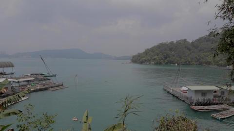 beautiful day - postcard pan shot at ita than lake Footage