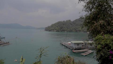 beautiful day - postcard pan shot at ita than lake Stock Video Footage