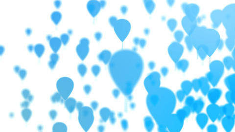 Blue Balloons Footage