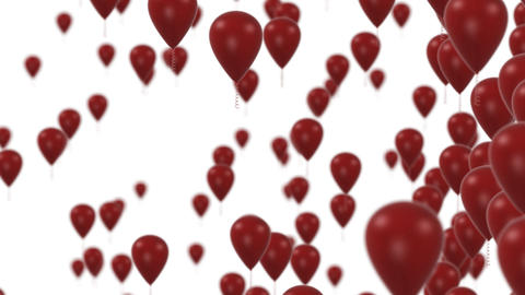 Red Balloons stock footage