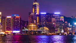 Hyperlapse Video Of Hong Kong From Day To Night stock footage