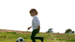 Little girl playing with ball Footage